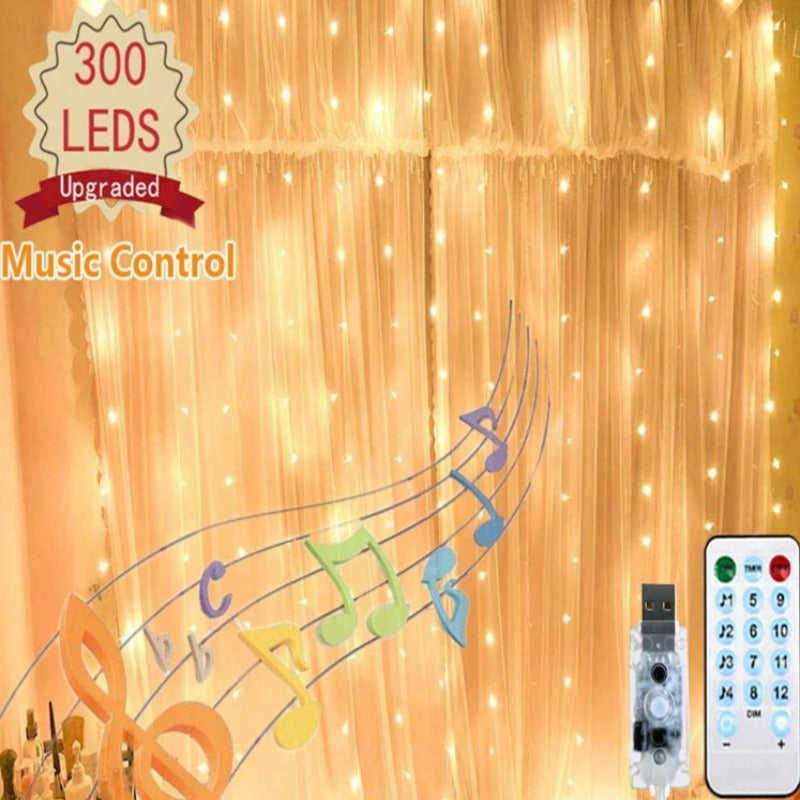 Curtain Lights with Music Sync Mode