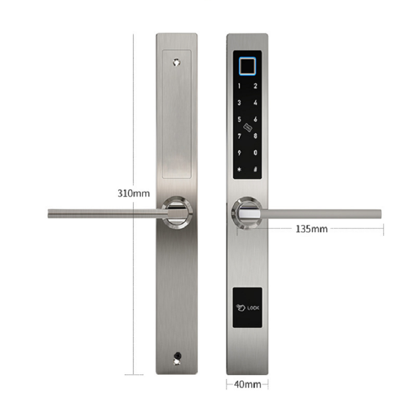 Smart Finger Print Lock with App for Aluminum Door