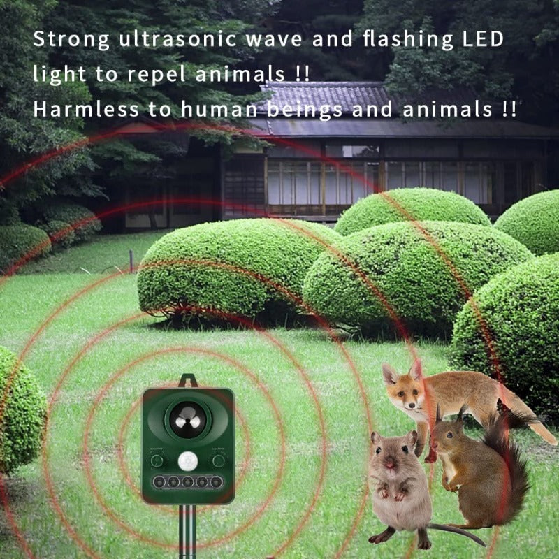 Solar Powered Animal Repellent