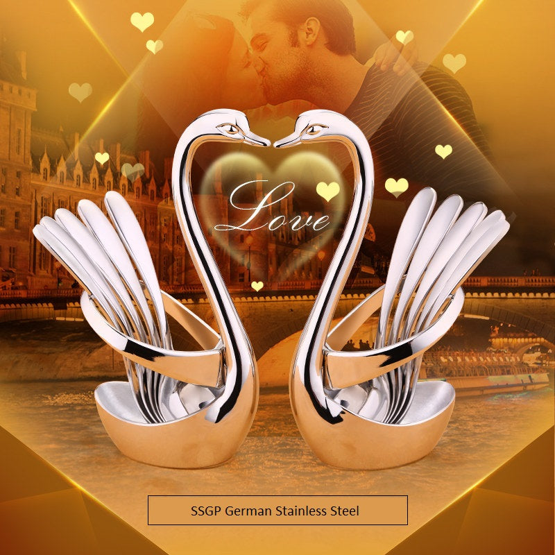 SSGP Stainless Steel 6 Pcs Swan Sets