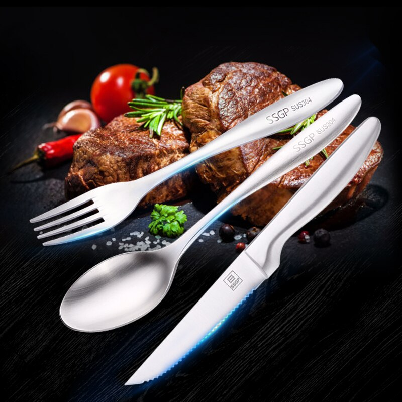 304 Stainless Steel 24 Piece Cutlery Set