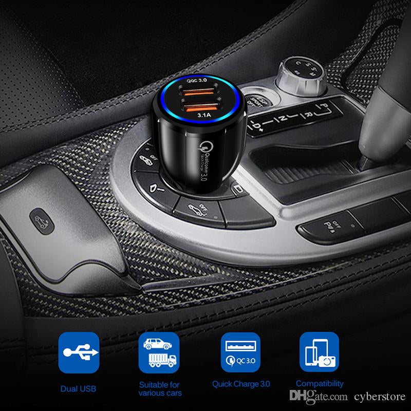 Dual USB Car Charger Socket