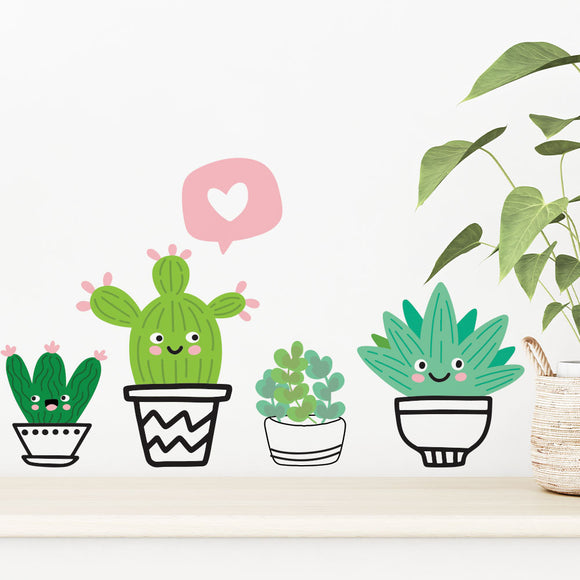Fun Cactus Wall Stickers