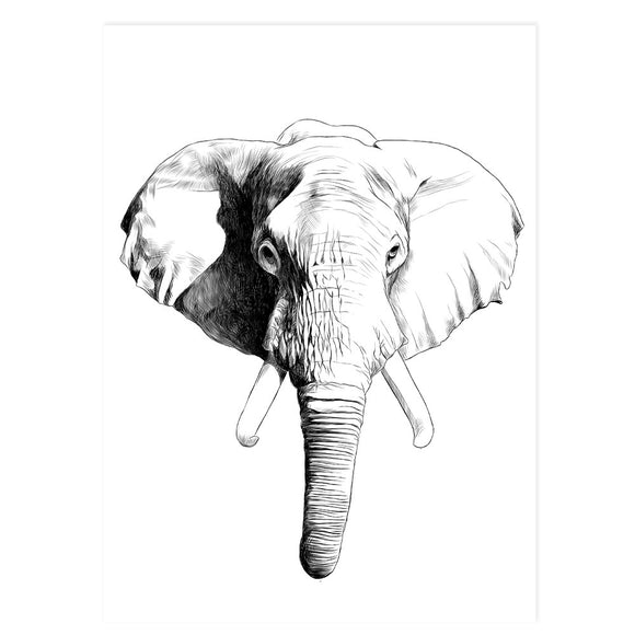 Ellie the Elephant - Wall Print
