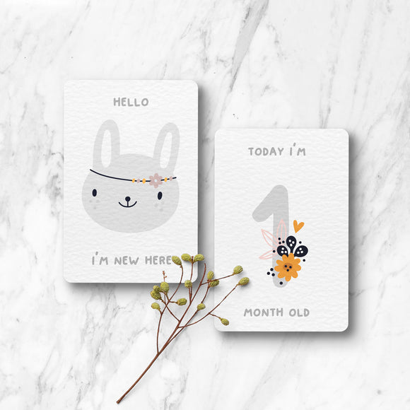 13 Pack Milestone Cards - Floral