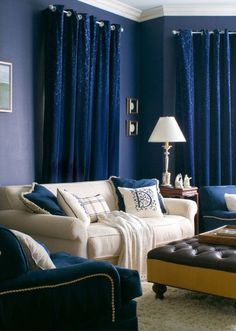 Blue curtain for room- Dilwana - African craft online shop