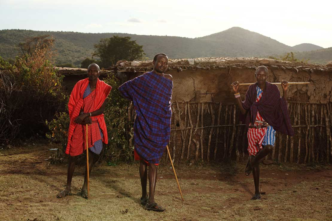 Southern African-Three man with Sticks