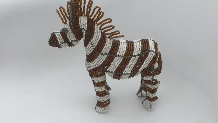 Zebra Wired and Beads - African Craft