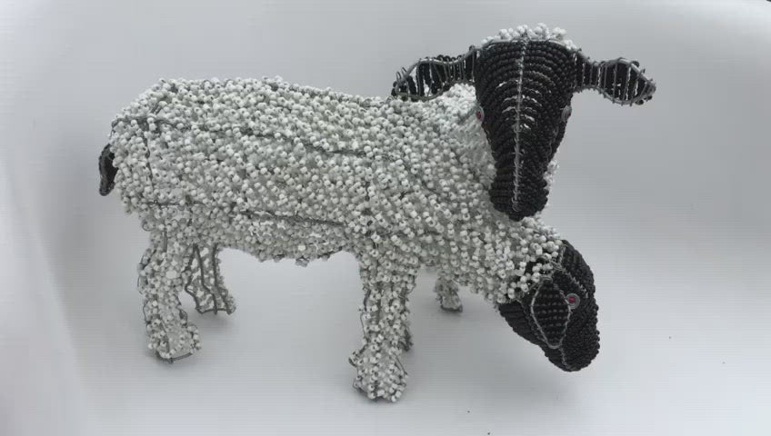 Sheep Wired and Beads - African Craft