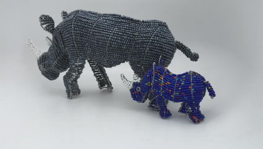 Rhino Wired and Beads - African Craft