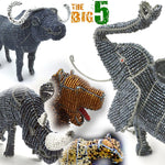 将图片加载到图库查看器,The Big Five Wired and Beads - African Craft