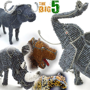 The Big Five Wired and Beads - African Craft
