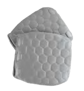 Hex Knee Pad Inserts - Gray