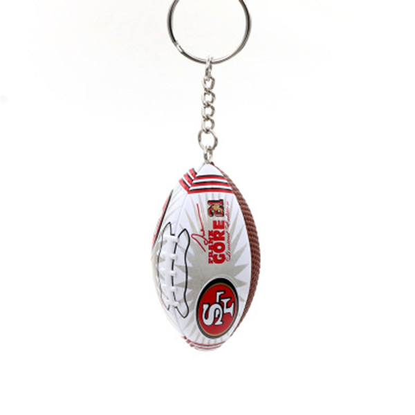NFL Super Bowl Memorial Rugby Keychain