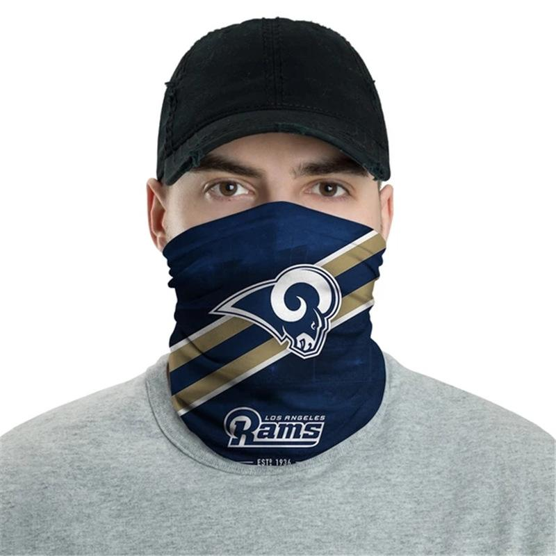 Los Angeles Rams Logo Face Mask Bandanas