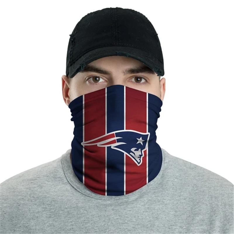 New England Patriots Logo Face Mask Bandanas