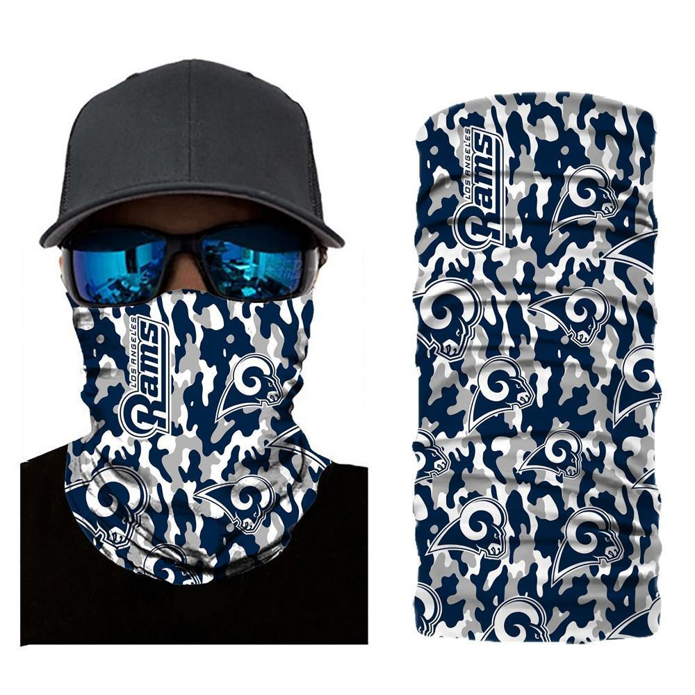 Los Angeles Rams Camouflage Face Mask Bandanas
