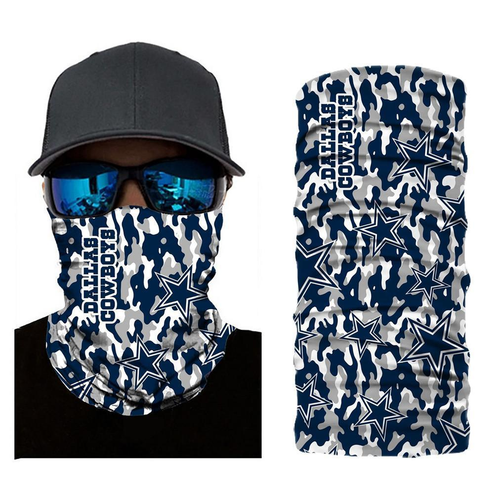 Dallas Cowboys Camouflage Face Mask Bandanas