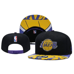 ANGELES LAKERS BRIM LOGO SNAPBACK CAP