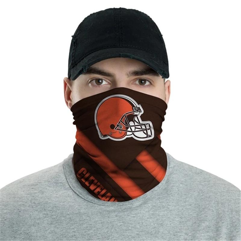 Cleveland Browns Logo Face Mask Bandanas