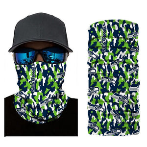 Seattle Seahawks Camouflage Face Mask Bandanas