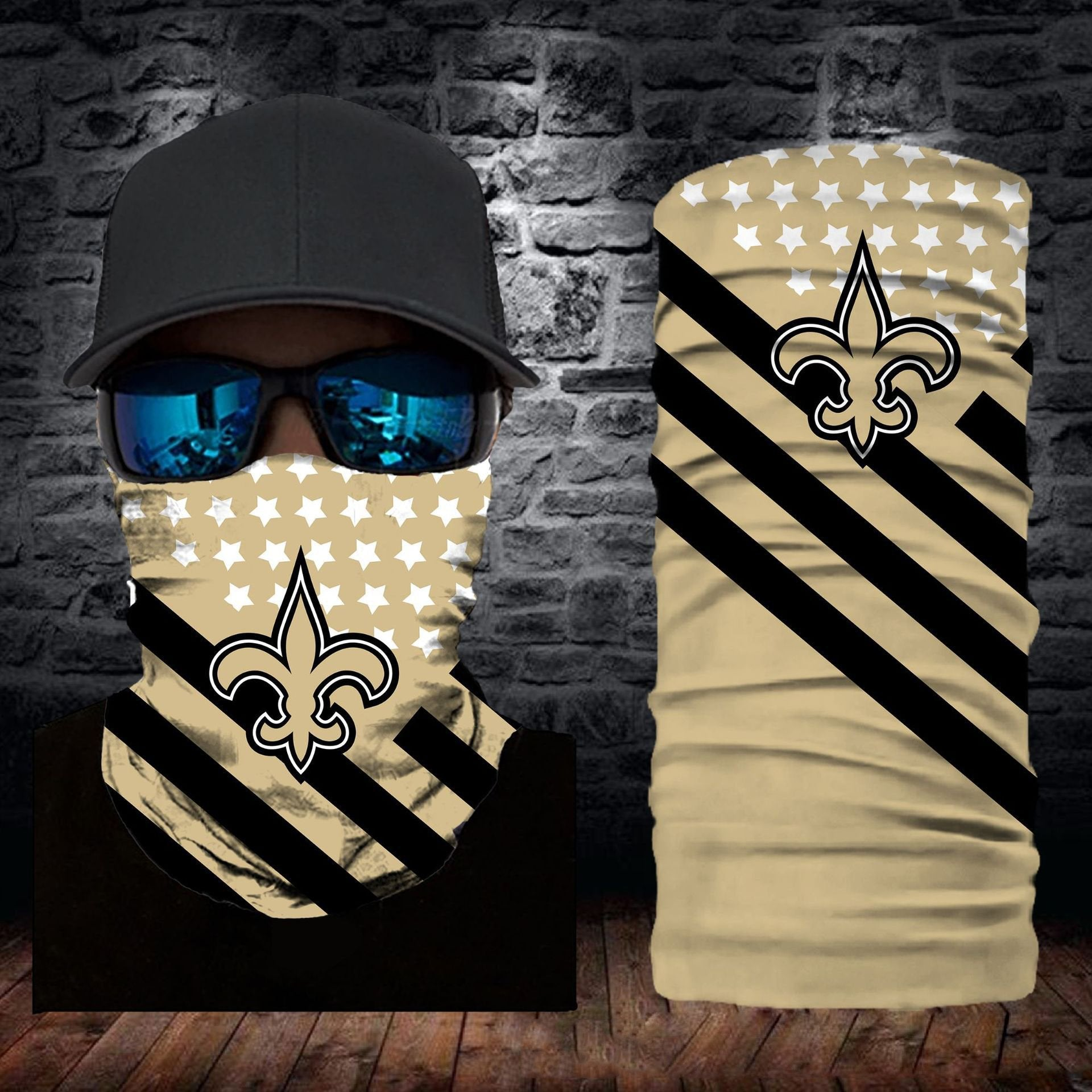 New Orleans Saints Flag Face Mask Bandanas