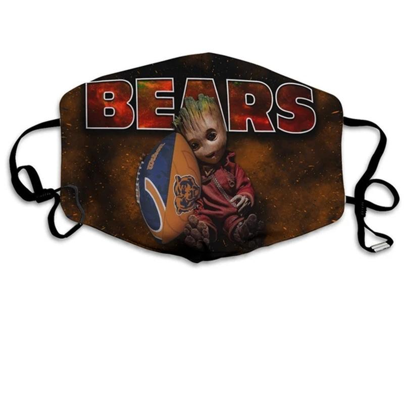 Groot  Chicago Bears Face Mask