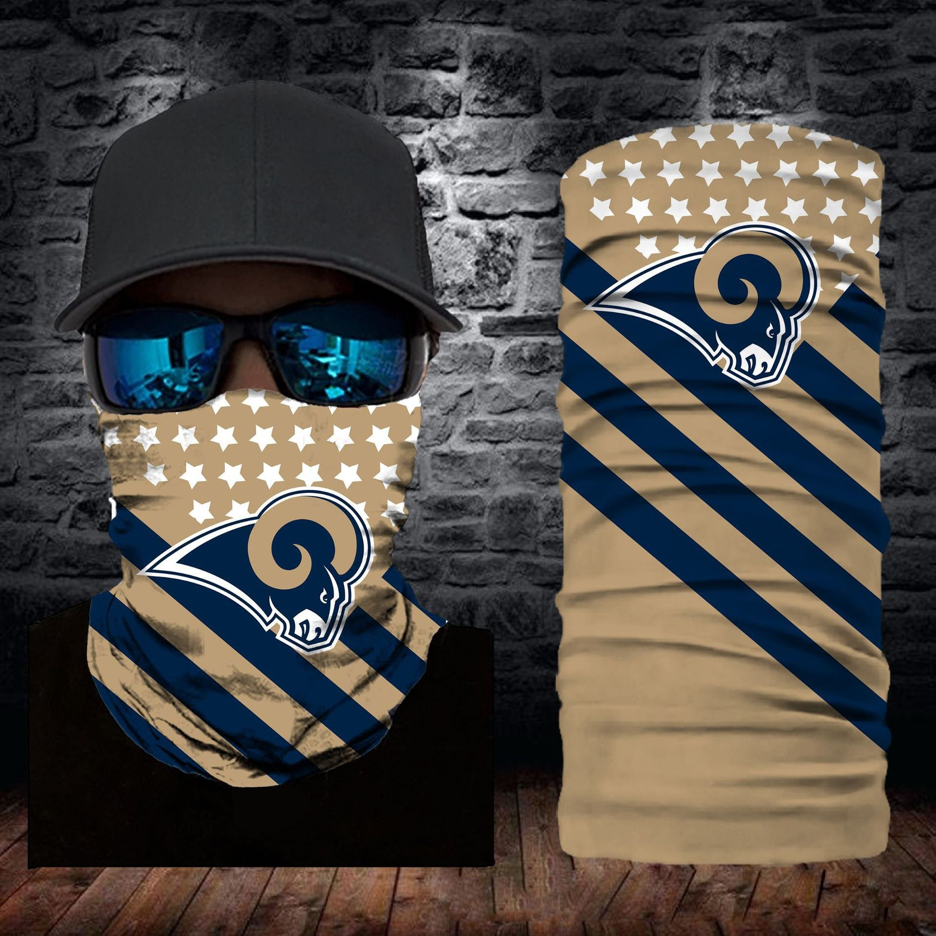 Los Angeles Rams Flag Face Mask Bandanas