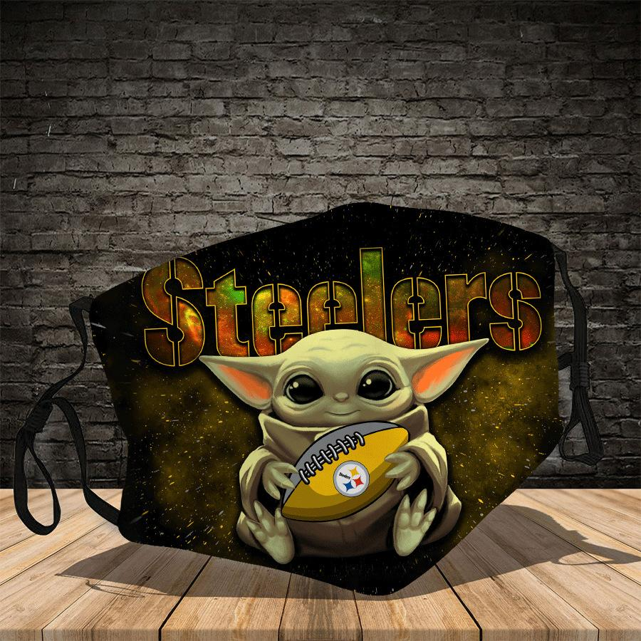 Master Yoda  Pittsburgh Steelers  Face Mask