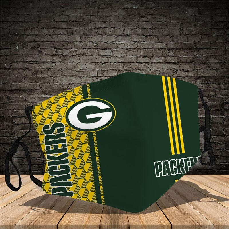 Green Bay Packers Vertical Face Mask