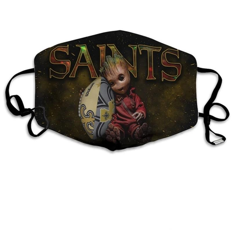 Groot  New Orleans Saints  Face Mask