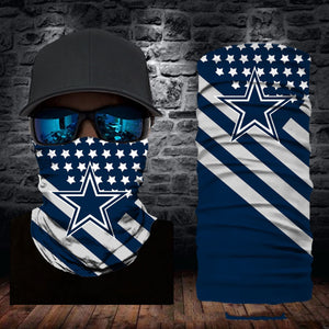 Dallas Cowboys Flag Face Mask Bandanas