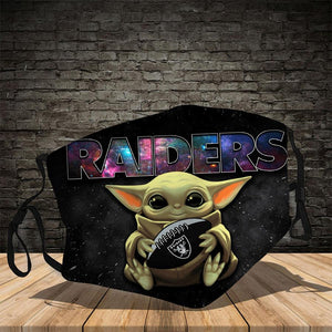 Master Yoda  Las Vegas Raiders  Face Mask