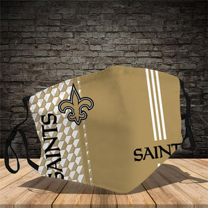 New Orleans Saints  Vertical Face Mask