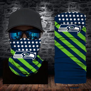 Seattle Seahawks Flag Face Mask Bandanas