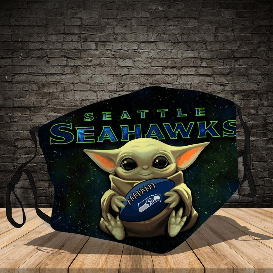 Master Yoda  Seattle Seahawks  Face Mask