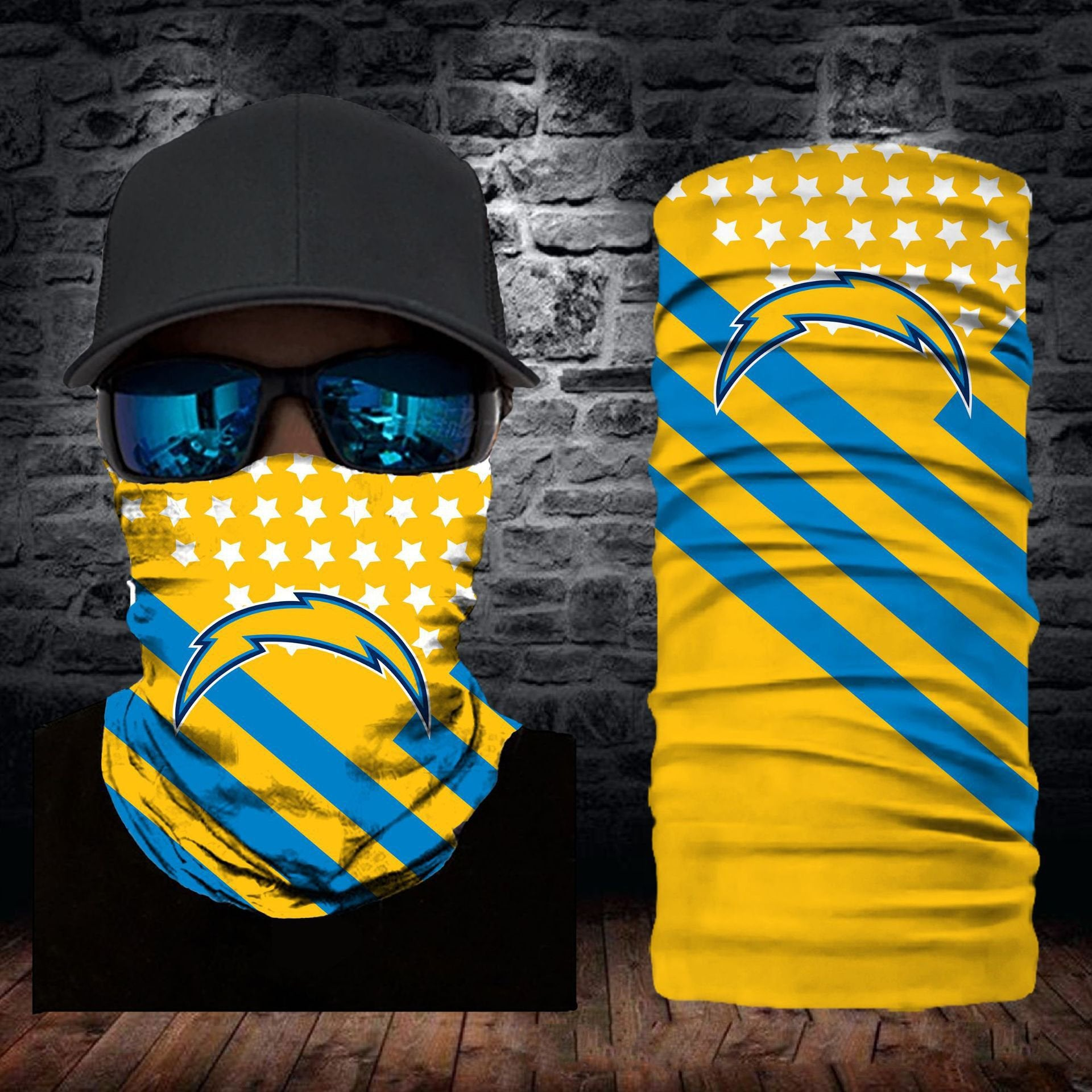 Los Angeles Chargers Flag Face Mask Bandanas