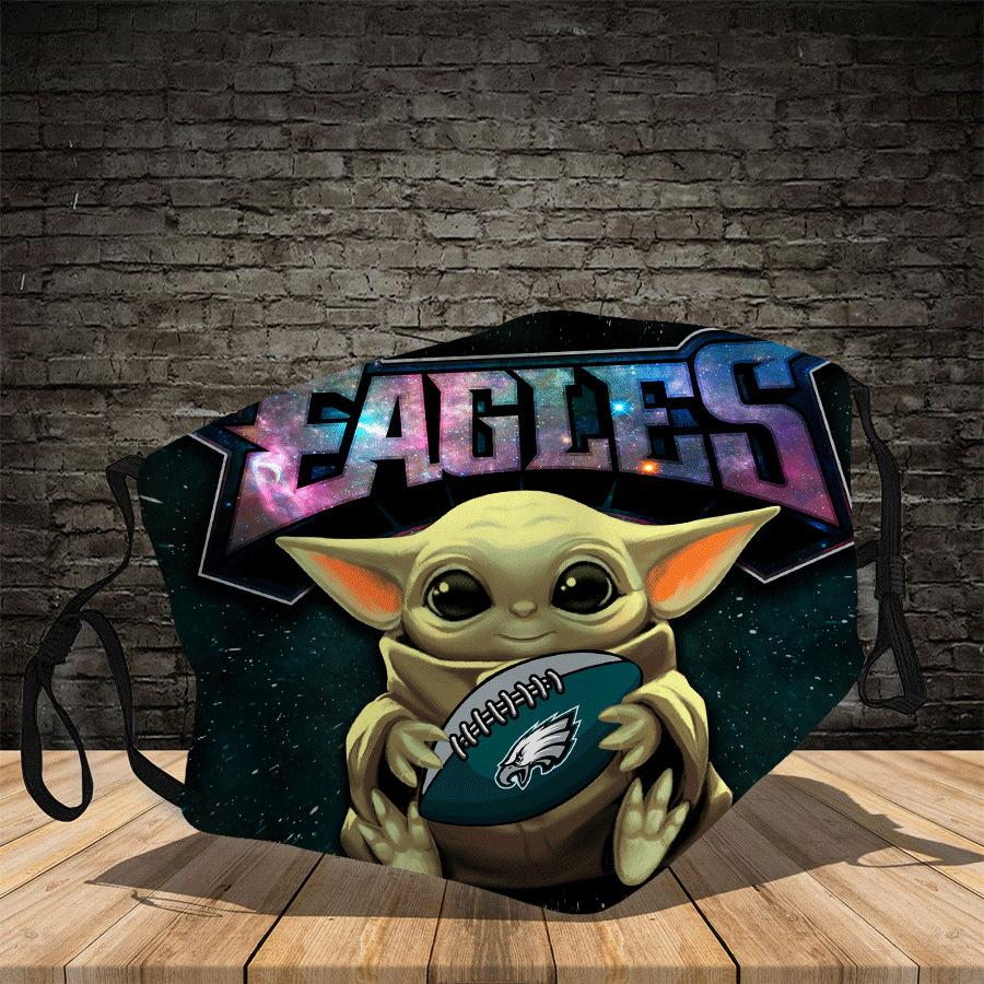 Master Yoda Philadelphia Eagles  Face Mask