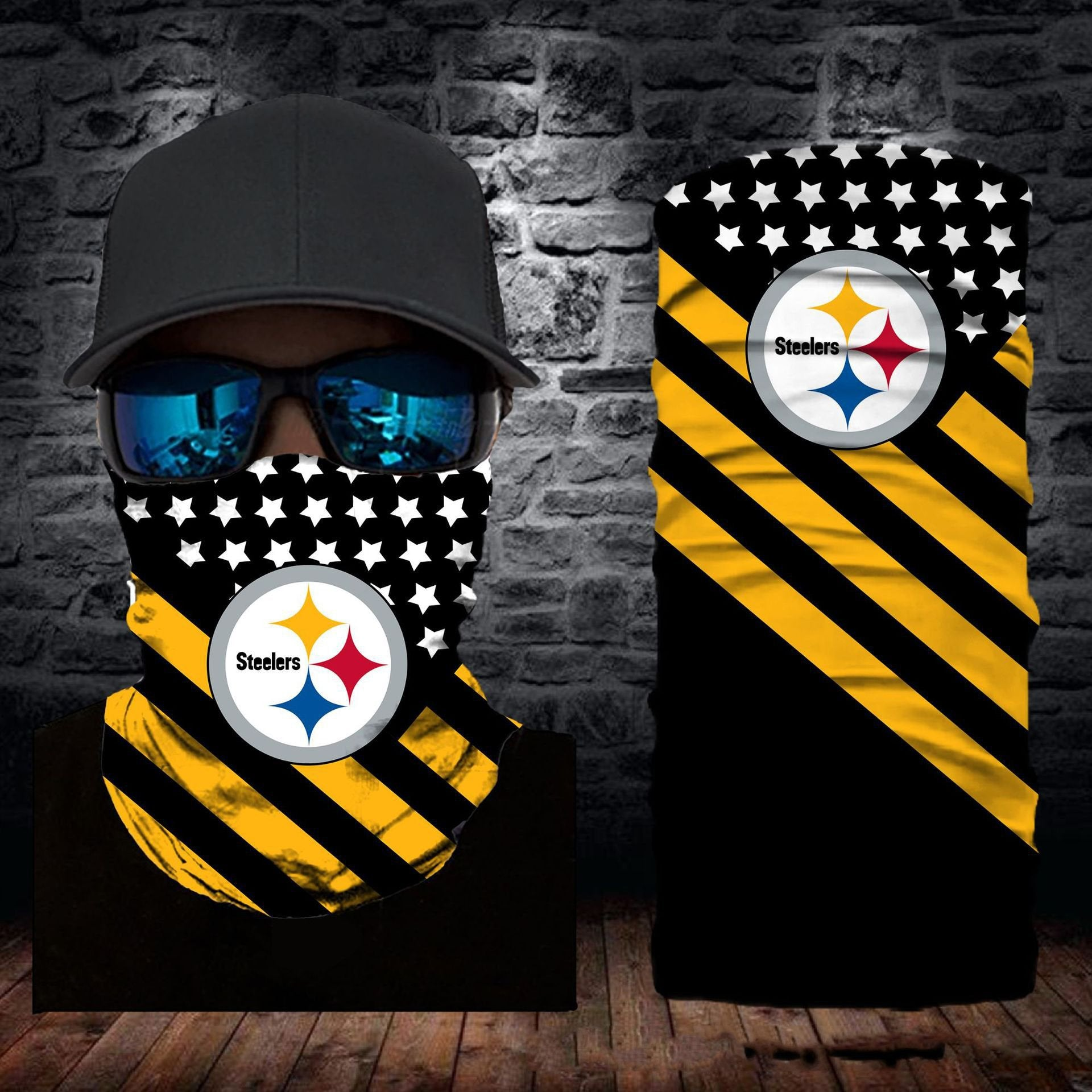 Pittsburgh Steelers Flag Face Mask Bandanas