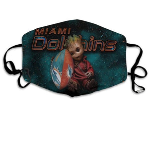 Groot  Miami Dolphins Face Mask