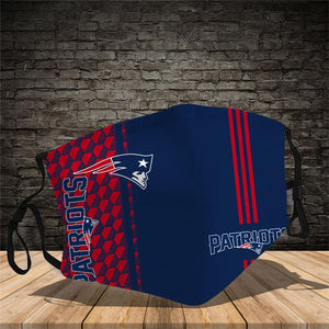 New England Patriots Vertical Face Mask