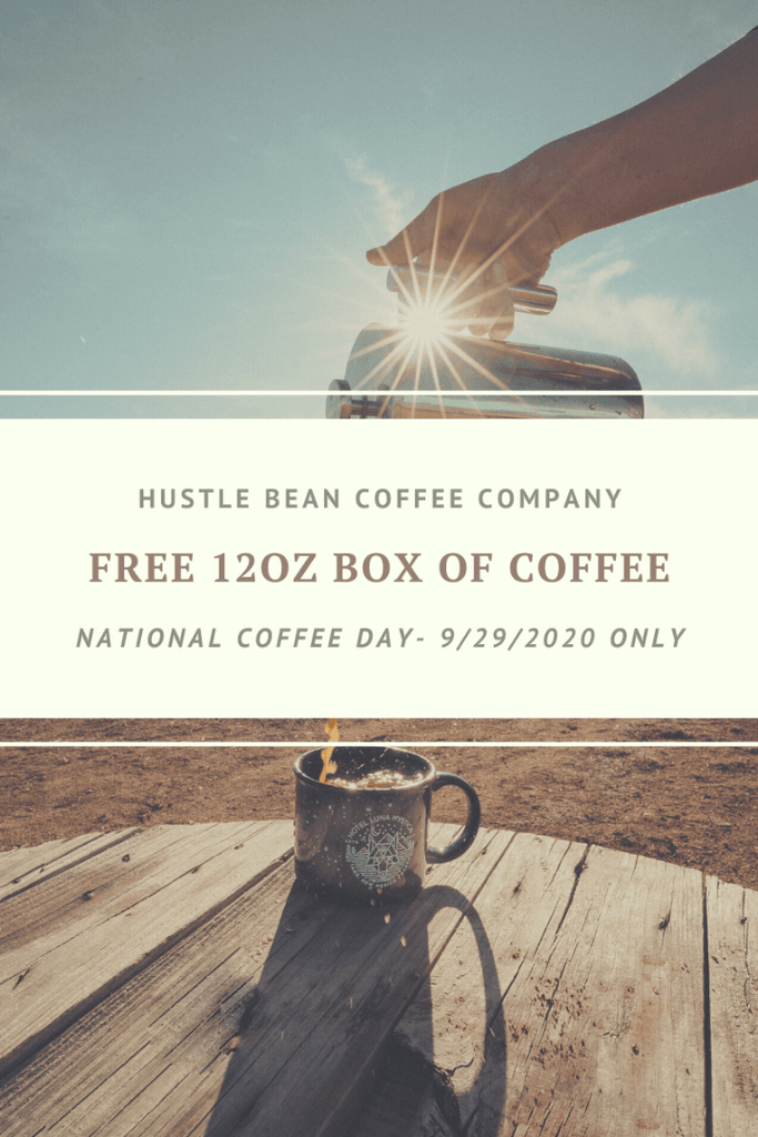 Hustle Bean Coffee Free 12oz Box for Entrepreneurs