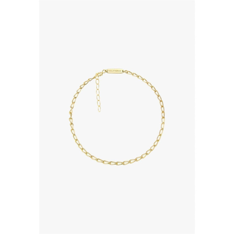 Wildthings - Oval chain anklet gold