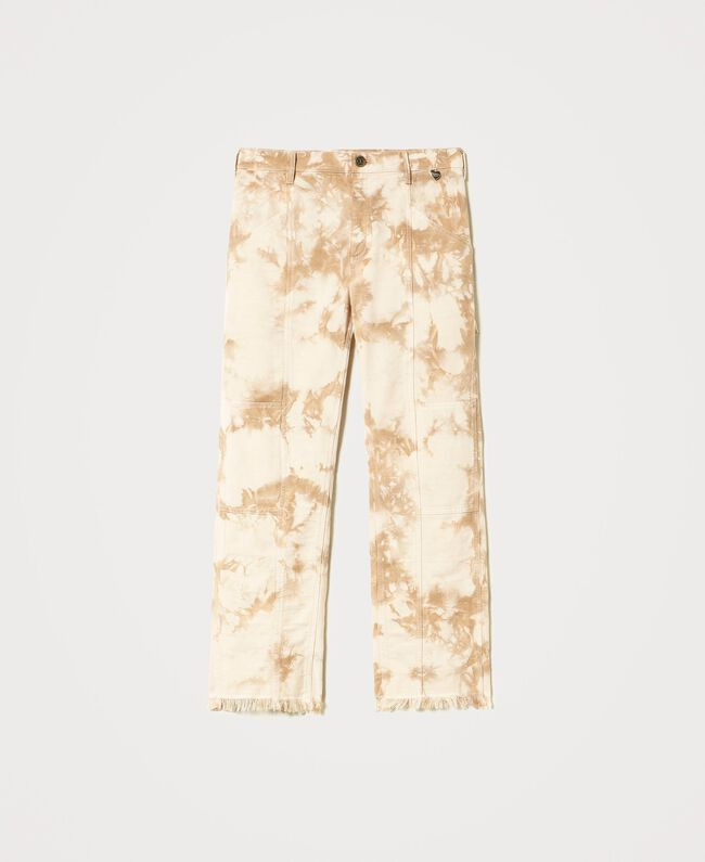 Twinset Milano | Tie-dye cargobroek beige | She Stories