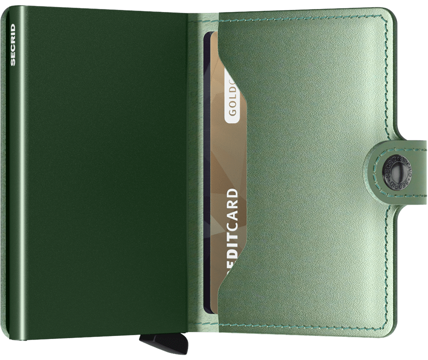 Secrid - Miniwallet Metallic Green