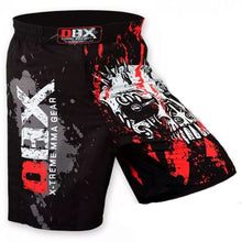 Load image into Gallery viewer, MMA Grappling Kick Boxing Shorts - Slashed Skull