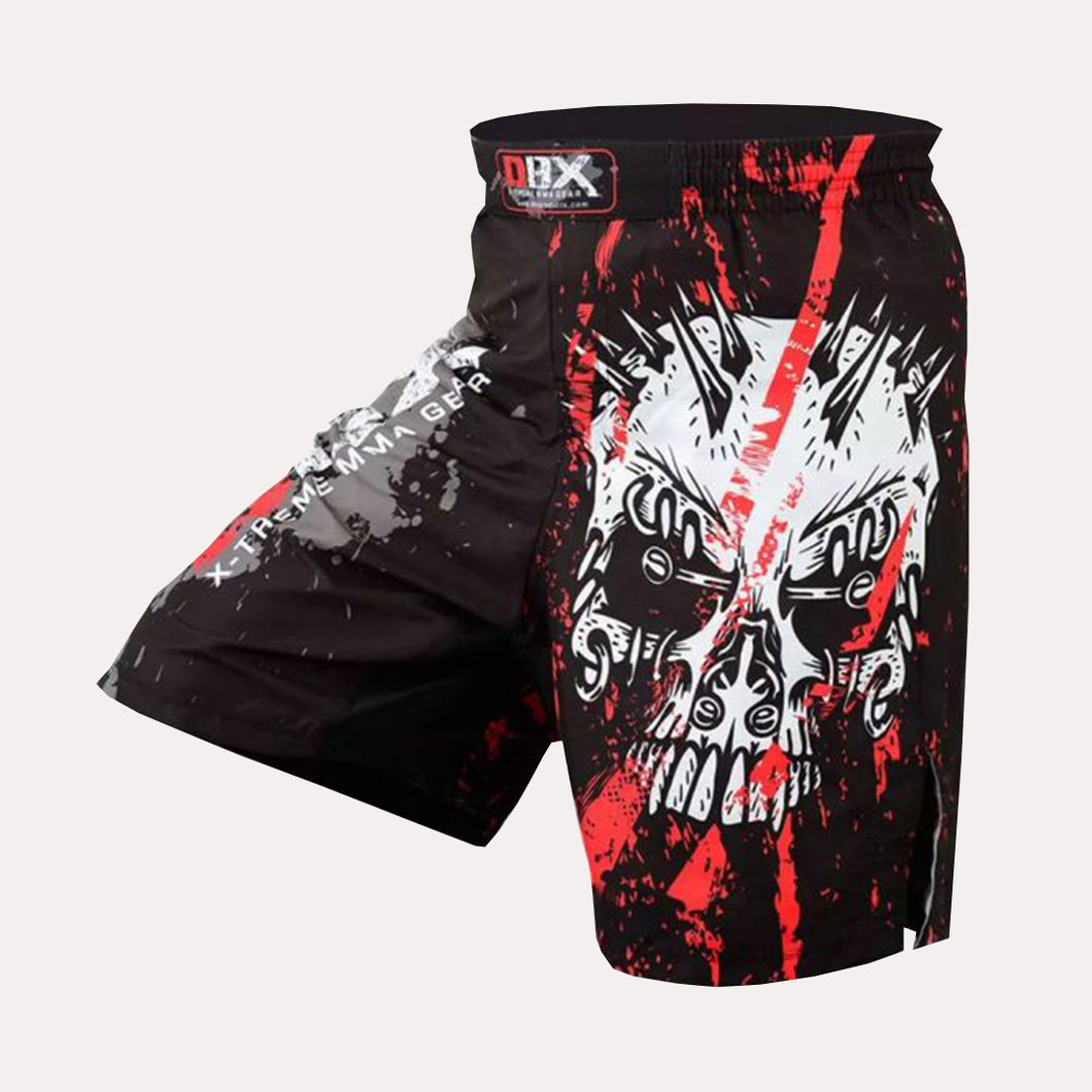 MMA Grappling Kick Boxing Shorts - Slashed Skull