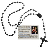 Prison Rosary Beads - English Version - Black