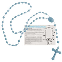 Rosary Beads - English Version - Light Blue