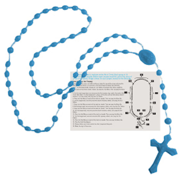 Rosary Beads - English Version - Royal Blue